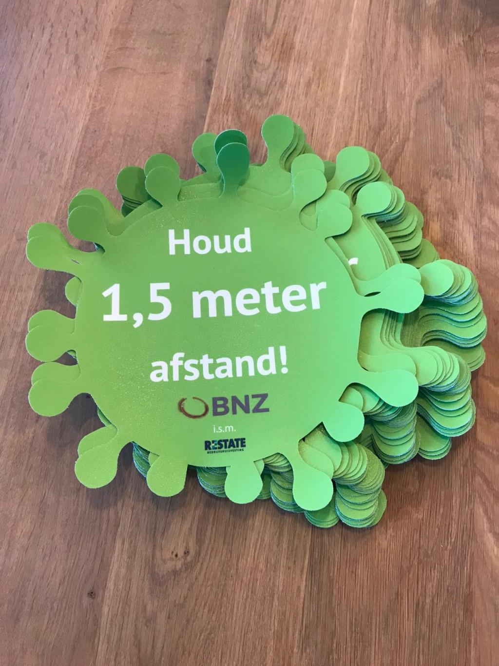 BNZ draagt ook graag haar steentje bij aan de 1,5 meter regel!